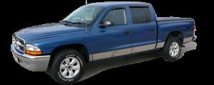"QAA - Dodge Dakota 1997-2004, 2-door, Pickup Truck, Short Bed (10 piece Stainless Steel Rocker Panel Trim, Full Kit 7"" Width Spans from the bottom of the molding to the bottom of the door.) TH37992 QAA - Image 2"
