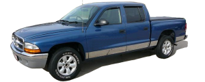 """QAA - Dodge Dakota 2000-2004, Pickup Truck, Quad Cab, w/ Flares (10 piece Stainless Steel Rocker Panel Trim, Upper Kit 6.75"""" Width Spans from the bottom of the molding DOWN to the specified width.) TH40996 QAA - Image 2"""