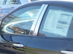 QAA - Dodge Dart 2013-2016, 4-door, Sedan (4 piece Stainless Steel Pillar Post Trim ) PP53905 QAA - Image 1