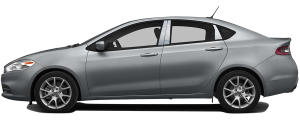 QAA - Dodge Dart 2013-2016, 4-door, Sedan (4 piece Stainless Steel Pillar Post Trim ) PP53905 QAA - Image 3