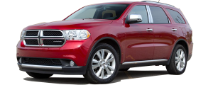 QAA - Dodge Durango 2011-2020, 4-door, SUV (8 piece Chrome Plated ABS plastic Door Handle Cover Kit Includes smart key access ) DH51081 QAA - Image 2
