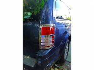 Chrome Trim - Tail Light Accents - QAA - Dodge Grand Caravan 2008-2010, 4-door, Minivan (2 piece Chrome Plated ABS plastic Tail Light Bezels ) TL48895 QAA