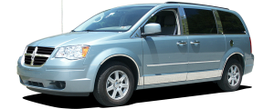 """QAA - Dodge Grand Caravan 2008-2020, 4-door, Minivan (8 piece Stainless Steel Rocker Panel Trim, Lower Kit 5.5"""" Width, cut back to flare Spans from the bottom of the door UP to the specified width.) TH48895 QAA - Image 3"""