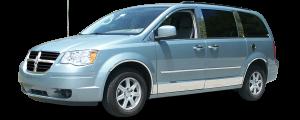 QAA - Dodge Grand Caravan 2008-2020, 4-door, Minivan (4 piece Stainless Steel Wheel Well Accent Trim full length With 3M adhesive installation and black rubber gasket edging.) WQ48895 QAA - Image 3