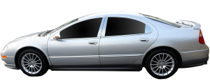 """QAA - Dodge Intrepid 1993-1995, 4-door, Sedan (8 piece Stainless Steel Rocker Panel Trim, Lower Kit 6.5"""" - 7.5"""" tapered Width Spans from the bottom of the door UP to the specified width.) TH33910 QAA - Image 2"""
