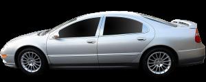 QAA - Dodge Intrepid 1998-2005, 4-door, Sedan (4 piece Stainless Steel Pillar Post Trim ) PP42910 QAA - Image 2