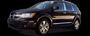 QAA - Dodge Journey 2009-2010, 4-door, SUV (8 piece Chrome Plated ABS plastic Door Handle Cover Kit ) DH45760 QAA - Image 2