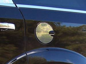 QAA - Dodge Durango 2004-2009, 4-door, SUV (1 piece Stainless Steel Gas Door Cover Trim Warning: This is NOT a replacement cap. You MUST have existing gas door to install this piece ) GC49945 QAA - Image 1