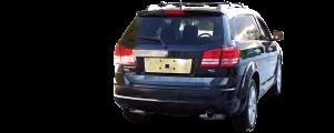 "QAA - Dodge Journey 2009-2020, 4-door, SUV (1 piece Stainless Steel Rear Deck Trim, Trunk Lid Accent 2"" Width ) RD49945 QAA - Image 3"