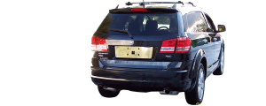 """QAA - Dodge Journey 2009-2020, 4-door, SUV (4 piece Stainless Steel Rocker Panel Trim, Lower Kit 4.25"""" - 4.375"""" tapered Width On the doors Only, spans from the bottom of the door UP to the specified width.) TH49945 QAA - Image 3"""