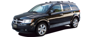 """QAA - Dodge Journey 2009-2020, 4-door, SUV (4 piece Stainless Steel Rocker Panel Trim, Lower Kit 4.25"""" - 4.375"""" tapered Width On the doors Only, spans from the bottom of the door UP to the specified width.) TH49945 QAA - Image 4"""