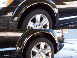 QAA - Dodge Journey 2009-2020, 4-door, SUV (8 piece Stainless Steel Wheel Well Accent Trim With 3M adhesive installation and black rubber gasket edging.) WQ49945 QAA - Image 1