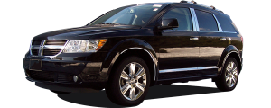 QAA - Dodge Journey 2009-2020, 4-door, SUV (8 piece Stainless Steel Wheel Well Accent Trim With 3M adhesive installation and black rubber gasket edging.) WQ49945 QAA - Image 2