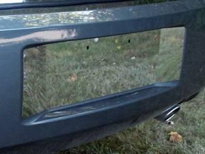 QAA - Dodge Magnum 2005-2008, 4-door, Wagon (1 piece Stainless Steel License Plate Bezel With contoured extentions ) LP45921 QAA - Image 1