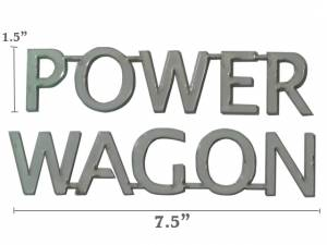 """QAA - Dodge Magnum 2005-2008, 4-door, Wagon (2 piece Stainless Steel """"POWER WAGON"""" decal 1.5"""" Height X 7.5"""" Width, Linked letters """"POWER"""" and """"WAGON"""" ) SGR45920 QAA - Image 1"""