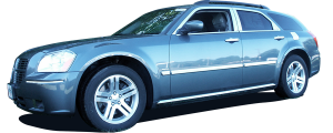 """QAA - Dodge Magnum 2005-2008, 4-door, Wagon (2 piece Stainless Steel """"POWER WAGON"""" decal 1.5"""" Height X 7.5"""" Width, Linked letters """"POWER"""" and """"WAGON"""" ) SGR45920 QAA - Image 2"""