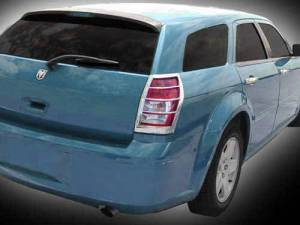 Chrome Trim - Tail Light Accents - QAA - Dodge Magnum 2005-2008, 4-door, Wagon (2 piece Chrome Plated ABS plastic Tail Light Bezels ) TL45920 QAA
