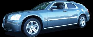 QAA - Dodge Magnum 2005-2008, 4-door, Wagon (4 piece Stainless Steel Window Sill Trim Set ) WS45920 QAA - Image 2