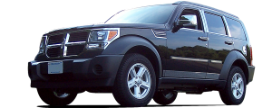 QAA - Dodge Nitro 2007-2011, 4-door, SUV (1 piece Stainless Steel License Bar, Above plate accent Trim with Logo Cut Out ) LB47940 QAA - Image 2