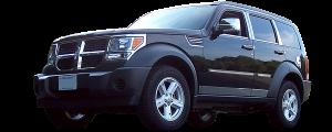 "QAA - Dodge Nitro 2007-2011, 4-door, SUV (1 piece Stainless Steel Rear Bumper Trim Accent 8.75"" Width ) RB47940 QAA - Image 2"