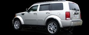 "QAA - Dodge Nitro 2007-2011, 4-door, SUV (1 piece Stainless Steel Rear Bumper Trim Accent 8.75"" Width ) RB47940 QAA - Image 3"