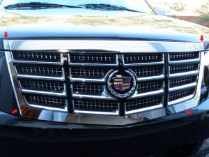 Chrome Trim - Grille Accents - QAA - Cadillac Escalade 2007-2014, 4-door, SUV (4 piece Stainless Steel Front Grille Accent Trim Does NOT fit Premium Models) SG47255 QAA