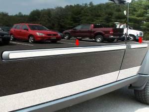 "QAA - Dodge Nitro 2007-2011, 4-door, SUV (4 piece Stainless Steel Rocker Panel Trim, Insert Kit 1"" Width Side Molding.) TH47941 QAA - Image 1"