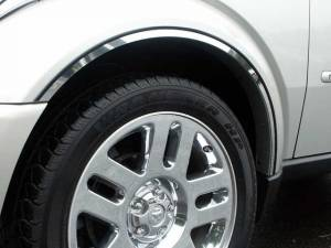 QAA - Dodge Nitro 2007-2011, 4-door, SUV (6 piece Stainless Steel Wheel Well Accent Trim With 3M adhesive installation and black rubber gasket edging.) WQ47940 QAA - Image 1