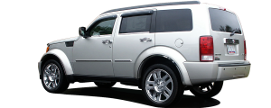 QAA - Dodge Nitro 2007-2011, 4-door, SUV (6 piece Stainless Steel Wheel Well Accent Trim With 3M adhesive installation and black rubber gasket edging.) WQ47940 QAA - Image 3