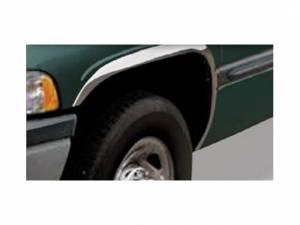 Dodge Ram 1994-2001, 2-door, 4-door, Pickup Truck (4 piece Molded Stainless Steel Wheel Well Fender Trim Molding Short Style Clip on or screw in installation, Lock Tab and screws, hardware included.) WZ34920 QAA