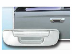 Chrome Trim - Tailgate Handle Cover - QAA - Dodge Ram 2002-2008, 2-door, 4-door, Pickup Truck (2 piece Chrome Plated ABS plastic Tailgate Handle Cover Kit ) DH42938 QAA