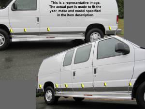 """QAA - Ford Econoline 1993-2002, 4-door, Cargo van w/ Swinging Door (11 piece Stainless Steel Rocker Panel Trim, Lower Kit 6"""" Width Spans from the bottom of the door UP to the specified width.) TH35319 QAA"""