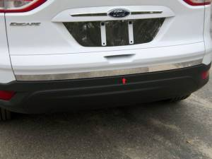 "Chrome Trim - Trunk Lid Accents - QAA - Ford Escape 2013-2019, 4-door, SUV (1 piece Stainless Steel Rear Deck Trim, Trunk Lid Accent 1.5"" Width ) RD53360 QAA"