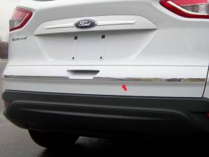 "Chrome Trim - Trunk Lid Accents - QAA - Ford Escape 2013-2019, 4-door, SUV (1 piece Stainless Steel Trunk Hatch Accent Trim 0.675"" Width, with Top Trim Crease ) TP53360 QAA"