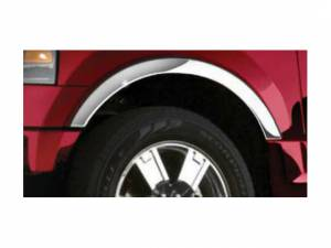 Ford Expedition 2003-2006, 4-door, SUV (4 piece Molded Stainless Steel Wheel Well Fender Trim Molding Clip on or screw in installation, Lock Tab and screws, hardware included.) WZ43383 QAA