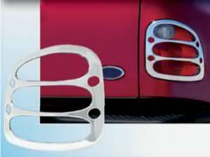 Chrome Trim - Tail Light Accents - QAA - Ford F-150 1997-2003, 2-door, 3-door, 4-door, Pickup Truck, Flareside (2 piece Chrome Plated ABS plastic Tail Light Bezels ) TL37309 QAA