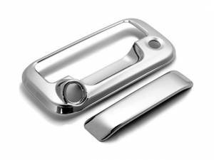 Chrome Trim - Tailgate Handle Cover - QAA - Ford F-150 2004-2014, 2-door, 4-door, Pickup Truck (2 piece Chrome Plated ABS plastic Tailgate Handle Cover Kit Includes camera access ) DH44312 QAA