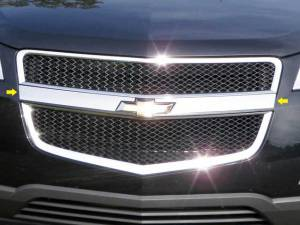 Chrome Trim - Grille Accents - QAA - Chevrolet Traverse 2009-2012, 4-door, SUV (2 piece Stainless Steel Front Grille Accent Trim Logo Extension Inserts ) SG49165 QAA