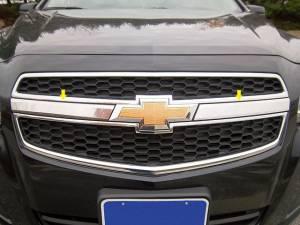 "Chrome Trim - Grille Accents - QAA - Chevrolet Malibu 2013-2013, 4-door, Sedan (2 piece Stainless Steel Front Grille Accent Trim 1.75"" Width X 13"" Length ) SG53105 QAA"