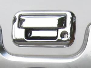 Chrome Trim - Tailgate Handle Cover - QAA - Ford F-250 & F-350 Super Duty 2008-2015, 2-door, 4-door, Pickup Truck (2 piece Chrome Plated ABS plastic Tailgate Handle Cover Kit Does NOT include camera access ) DH44307 QAA