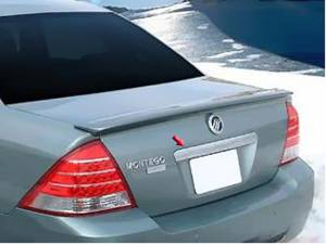 Chrome Trim - Trunk Lid Accents - QAA - Ford Five Hundred 2005-2007, 4-door, Sedan (1 piece Chrome Plated ABS plastic Trunk Bar Trim ) TB45490 QAA