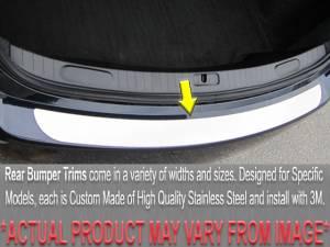 Chrome Trim - Bumper Accents - QAA - Ford Fusion 2013-2018, 4-door, Sedan (1 piece Stainless Steel Rear Bumper Trim Accent ) RB53390 QAA
