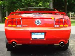 """Chrome Trim - Tail Light Accents - QAA - Ford Mustang 2005-2006, 2-door, Coupe, Convertible (2 piece Stainless Steel Tail Light Ring Accent Trim 8.625"""" Width ) TR45351 QAA"""