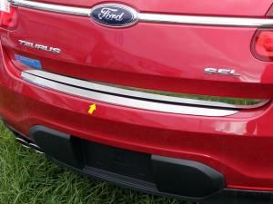 Chrome Trim - Bumper Accents - QAA - Ford Taurus 2010-2018, 4-door, Sedan (1 piece Stainless Steel Rear Bumper Trim Accent ) RB50490 QAA