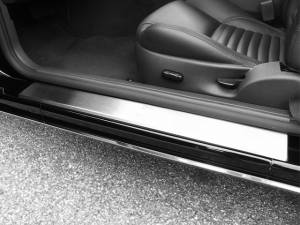 Chrome Trim - Door Sill Trim - QAA - Ford Thunderbird 2002-2006, 2-door, Coupe, Convertible (2 piece Stainless Steel Door Sill trim Does NOT include Cut Out ) DS43670 QAA