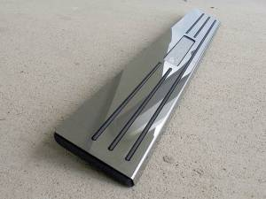 Chrome Trim - Door Sill Trim - QAA - Ford Thunderbird 2002-2006, 2-door, Coupe, Convertible (2 piece Stainless Steel Door Sill trim Includes Logo Cut Out ) DS43671 QAA