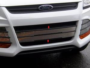 Chrome Trim - Grille Accents - QAA - Ford Escape 2013-2016, 4-door, SUV (2 piece Stainless Steel Front Grille Accent Trim Overlay Package, Center pieces with Adhesive Promoter ) SG53361 QAA