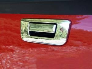Chrome Trim - Tailgate Handle Cover - QAA - GMC Sierra 2007-2013, 2-door, 4-door, Pickup Truck (2 piece Chrome Plated ABS plastic Tailgate Handle Cover Kit Includes key access ) DH47182 QAA