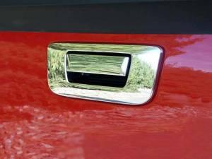 Chrome Trim - Tailgate Handle Cover - QAA - GMC Sierra 2007-2013, 2-door, 4-door, Pickup Truck (2 piece Chrome Plated ABS plastic Tailgate Handle Cover Kit Does NOT include key access ) DH47183 QAA