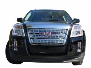 Chrome Trim - Grille Accents - QAA - GMC Terrain 2010-2015, 4-door, SUV (1 piece Chrome Plated ABS plastic Grill Overlay ) SGC50275 QAA